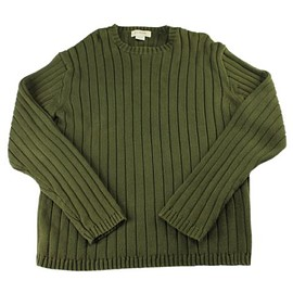 J.CREW - J.Crew Olive Green Ribbed Sweater Menswear Mens Size Large