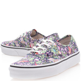 Vans x Liberty Art Fabrics - Navy Strawberry Thief Liberty Print Authentic Trainers