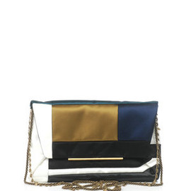 LANVIN - SATIN PATCHWORK CLUTCH BAG