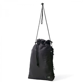 "HEAD PORTER - ""LUMIERE"" SHOULDER BAG (L) BLACK"