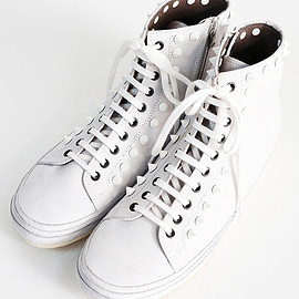 SHAREEF - High cut leather sneaker (white)