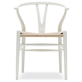 Carl Hansen & Son - Hans Wegner Y-Chair CH24 in  WHITE / NATURAL PAPER