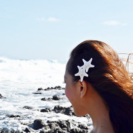 Double Knobby Starfish Mermaid Barrette