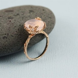 rose quartz ring - Pinned Image