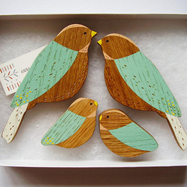 AnnaWiscombe - Wooden Wall birds