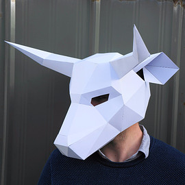 Make your own bear mask from recycled card, perfect for festivals