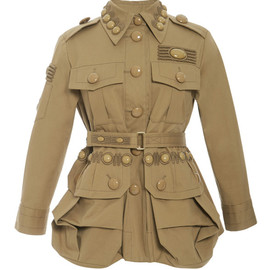 MARC JACOBS - SS2015 Embroidered Gold Cotton Twill Military Jacket