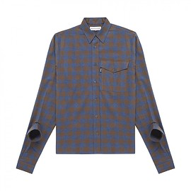 Gosha Rubchinskiy - Shirt with Double Cuff (Blue Check)