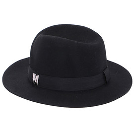"ROMWE - ROMWE ""M"" Embellished Black Hat"