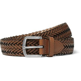 Polo Ralph Lauren - 3cm Brown Woven Leather Belt