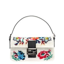 FENDI - Floral beaded Baguette bag