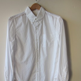 BAND OF OUTSIDERS - WHITE BATISTE BUTTONDOWN