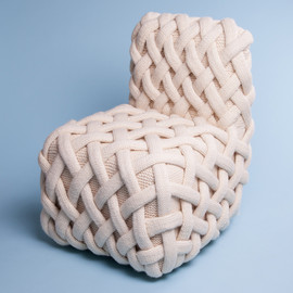 Claire-Anne O'Brien - Olann - handknitted wool furniture collection