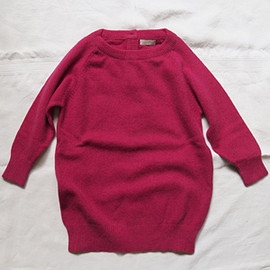 MAKIE - Cashmere Back Button Pullover - Pink