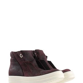 Rick Owens - Brown Island Dunk Leather Platform High-Top Sneakers