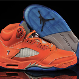 "Orange/Game Royal/Mts- Jordan V ""Melo"" Pe Team-Nike-Men's-Sneakers"