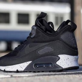 Nike - NIKE AIR MAX 90 MID SNEAKERBOOT NS BLACK/BLACK-DARK CHARCOAL-WHITE