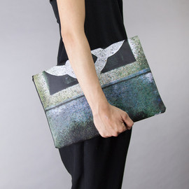 Tcollector, CROP clutch - コンクリート塀 クラッチバッグ