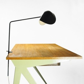 Serge Mouille - Lamp (on a Jean Prouve Desk)