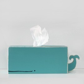 shopSparklyPony - Whale Tissue Holder - Cyan