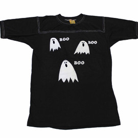 VINTAGE - Vintage 80s Boo Boo Boo Ghosts Halloween Shirt Made in USA Mens Size Small