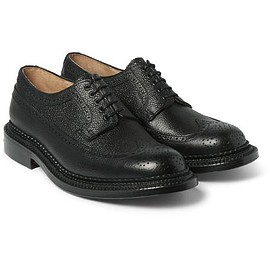 Grenson - Sid Triple-Welted Grained-Leather Brogues