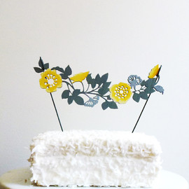 Flower Garland Cake Topper - Flower Garland Cake Topper