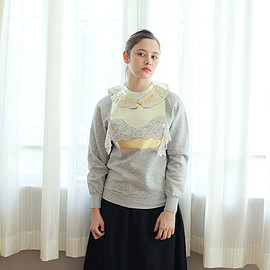 YUKI FUJISAWA - Lace collar and Sweat shirts+Lace