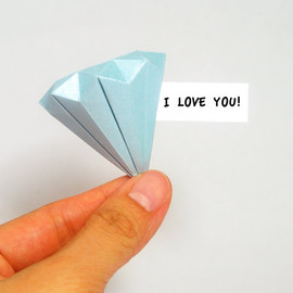 luluslittleshop - Origami Blue Diamond
