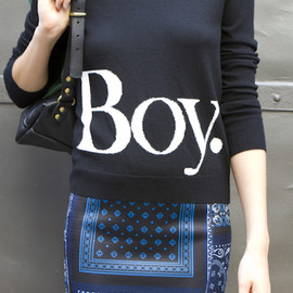OPENING CEREMONY - an old boy london logo tee and a skirt