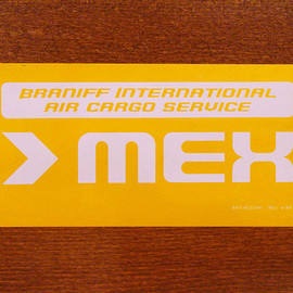 "BRANIFF INTERNATIONAL - Luggage laber ""MEX"""