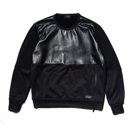 UNDERCOVERISM - black leather panel sweat
