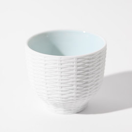 CEMENT PRODUCE DESIGN, Trace Face - Rattan Basket / blue