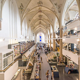 Dutch city of Zwolle - 15th Century Dominican Church Repurposed as a Dazzling Bookstore