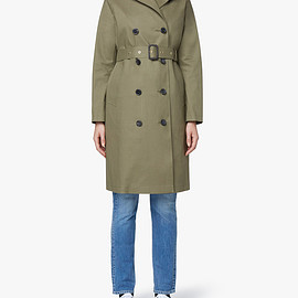 MACKINTOSH - Khaki Bonded Cotton Trench Coat