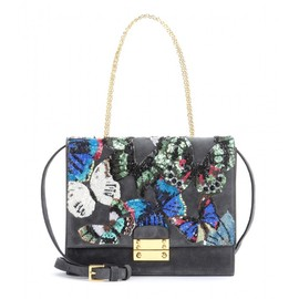 VALENTINO - Close-Up sequin-embellished suede shoulder bag