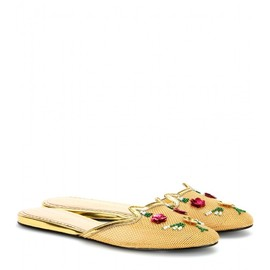 Charlotte Olympia - Kitsch Kitty embellished slippers