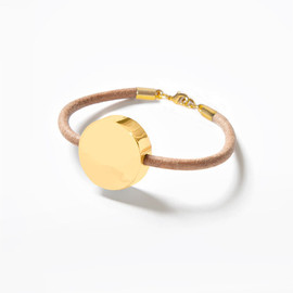 brook&lyn - Small Medallion Bracelet Natural