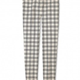 SEE BY CHLOE - Cream Jacquard Check Cigarette Trouser