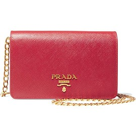 Prada - Wallet On A Chain textured-leather shoulder bag