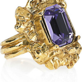 Yves Saint Laurent - Arty Too Gold-plated Swarovski Crystal Ring