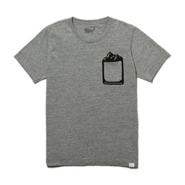White Mountaineering - MELANGE JERSEY PRINTED MOUNTAIN POCKET T-SHIRT