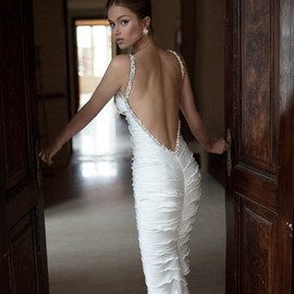 berta 2014 ruffle wedding dress beaded straps