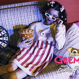 Candy strippe, グレムリン - POPCORN GIZMO SWEAT ONE-PIECE