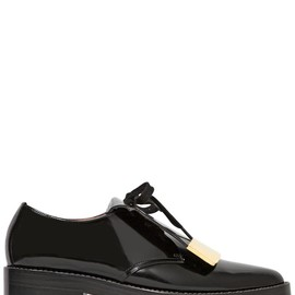MARNI - FW2014 40MM GOLD PLAQUE ON BRUSHED CALF SHOES