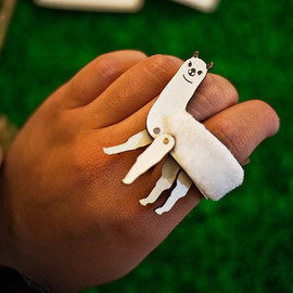 Designpopupshop - Handmade leather animal ring