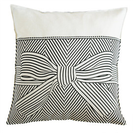soraam - big bow linen pillow cover