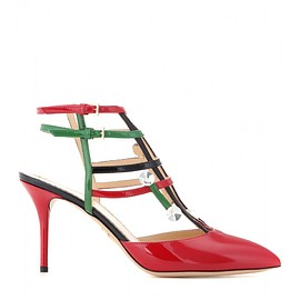 Charlotte Olympia - Moma embellished patent leather sandals