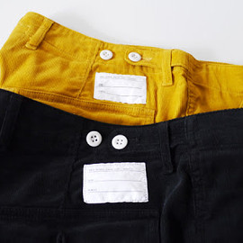 NHC - CORDUROY BAKER SHORT PANTS (BLACK,YELLOW)