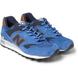 New Balance - 577 Country Fair Nubuck and Leather Sneakers